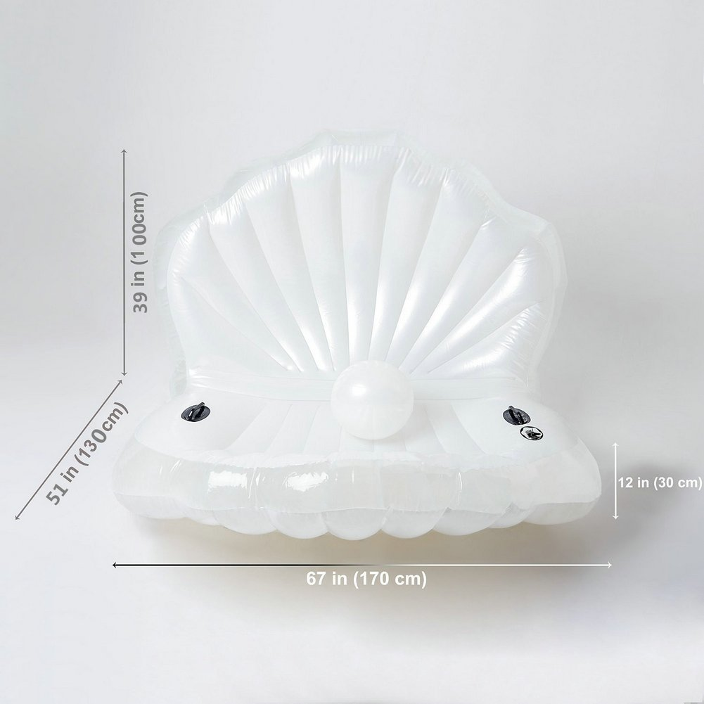 Seashell Inflatable Pool Float Mattress,Rideable Inflatable Float Toy Raft Swimming Pool Rideable Mermaid Sea Shell 170x130x100cm
