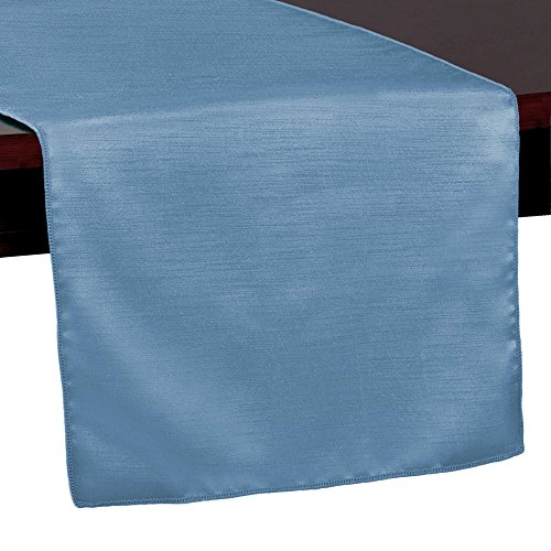 - Ultimate Textile -10 Pack- Reversible Shantung Satin - Majestic 14 x 108-Inch Table Runner, Periwinkle Blue