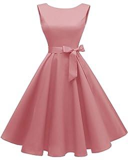 Amazon.com: Wellwits vestido vintage de los años 40 y 50 con ...