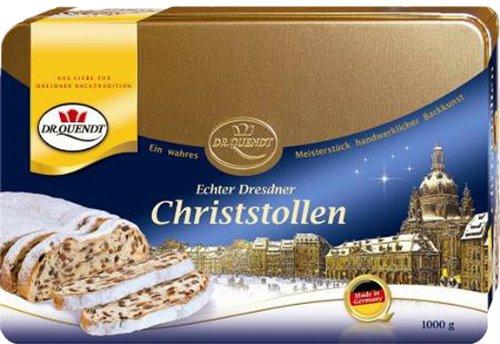 Dr. Quendt - Genuine Dresdner Christstollen - Gift Tin - 1.0 Kg