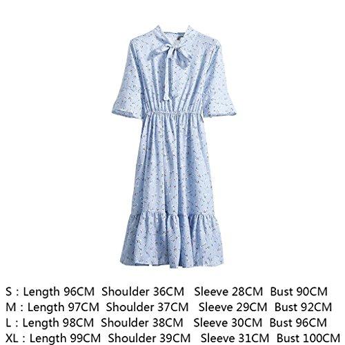 Vita Dress Chiffon In Colore Abito Arco Donne Pullover Ginocchio Elastico Di Legame Providethebest Fiori Stampa 16 SUMpqzVGL