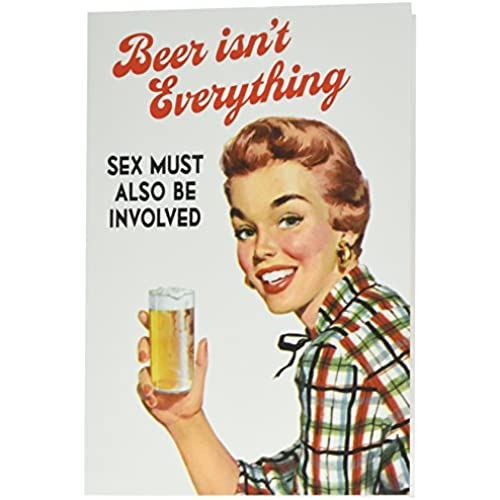 NobleWorks 2055 Beer Isn't Everything Funny Valentine's Day Unique Greeting Card, 5 x 7 Sales