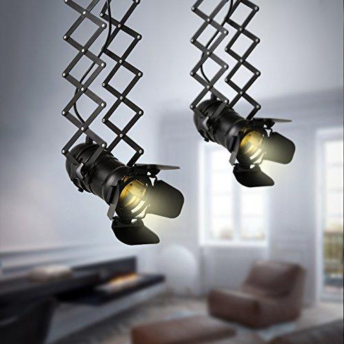 LightInTheBox LightInTheBox Vintage LED Track Light Loft Industrial Spotlight Pendant Light Black Track Lights Spotlights Ceiling Lamp Lighting Fixture