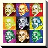 1art1 58184 Albert Einstein - Zunge, Pop Art Poster Leinwandbild Auf Keilrahmen 40 x 40 cm