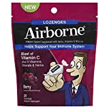 Airborne Vitamin C 1000mg Immune Support Supplement, Lozenges, Berry Flavor, 20 Count (Pack of 3)