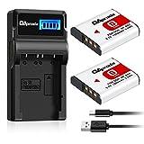 OAproda NP-BG1 Battery (2 Pack) & Smart LCD USB Charger for Sony Cyber-shot NP-FG1, DSC-H10, H50, H70, DSC-N2,N1, DSC-T100, T20, DSC-W150, W120, W290, WX1, WX10 and moer Sony W Series Digital Cameras