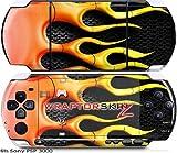 Sony PSP 3000 Decal Style Skin - Metal Flames (OEM Packaging)