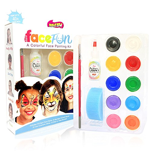 Beginner Face Painting Kit Silly Farm Classic FACEfun Party Kit ()
