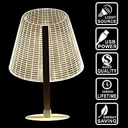 3D Round Lamps,3D Night Lights, Optical Illusion Lamps LED Night Lamps Visual Lamp Gift for Kids Decorative Lamp