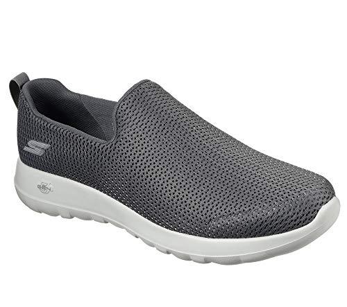 Skechers mens Go Walk Max-Athletic Air Mesh Slip on Walking Shoe,Charcoal,11.5 M US