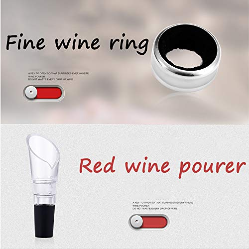ZYG.GG Electric Bottle Opener, Professional Automatic Corkscrew Wine Opener, Luxury Gift Set with, Accessories Set of Foil Cutter, Wine Ring, Wine Pourer and Vacuum Wine Stopper by ZYG.GG (Image #1)