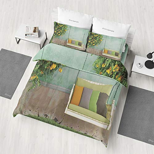 Zilcine 4 PCS Bedding Sets,Country Home Decor,Gifts for Family/Friends(Queen) -
