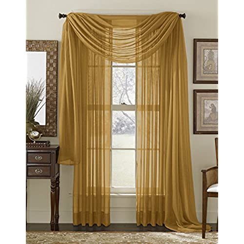 Gold Sheer Curtains Amazon