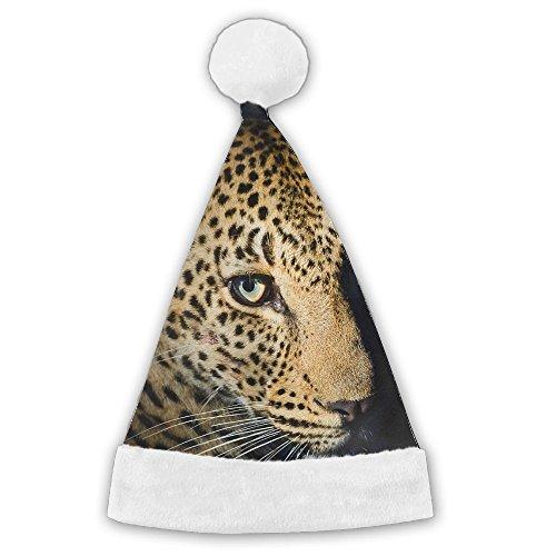 Cheetah Full Print Christmas Hat Santa Cap