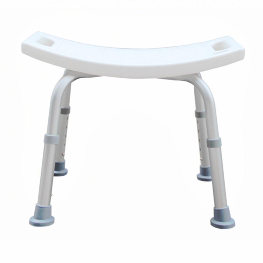 WSSF- シャワーチェア 妊婦ノンスリップ厚い入浴スツールの高さ調整可能なアルミ合金高齢者障害者トイレシャワー椅子   B07B7KSN36