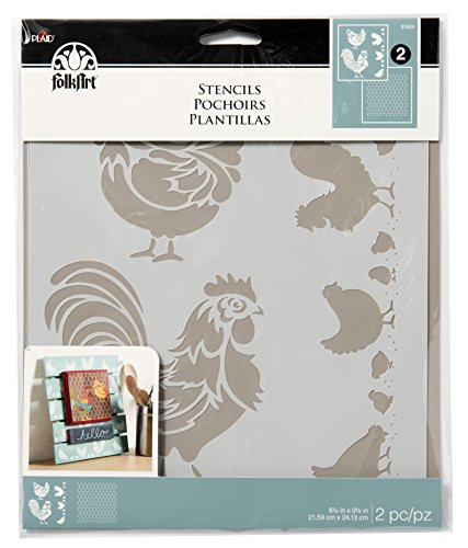 FolkArt Stencils, 31624 Coordinating Chicken Coop (2-Pack) by FolkArt
