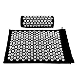 Hi Suyi Acupressure Set Massage Mat and Pillow Bed of Nails Yoga Bed Mattress for Pain Relief Relieves Stress Back Neck Scalp and Wellness For Sale