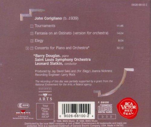 Corigliano: Piano Concerto / Elegy / Tournaments / Fantasia