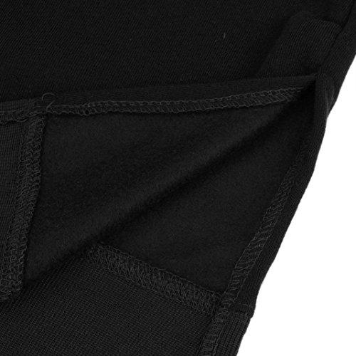 Women Blouse, Neartime Women Casual Hood Sweatshirt Hooded Ladies Long Pullover Tops (L2, Black) by NEARTIME (Image #6)