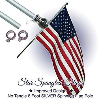 Valley Forge Flag Multi-Position 1-Inch Cast Aluminum Flag Pole Bracket 60753