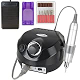 Professional Electric Nail Drill Machine Manicure Pedicure Kit Finger Nail File Tool for Nail Salon and Personal use (Black)