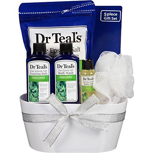 Bucket Bath Set (Dr Teal's Relax with Eucalyptus & Spearmint 5-Piece Bucket Bath Gift Set)