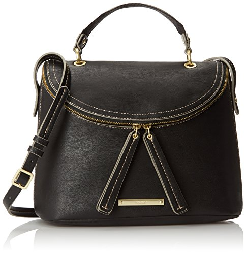 Nine West Wide Open Spaces Large Cross Body Bag, Black/Black, One Size