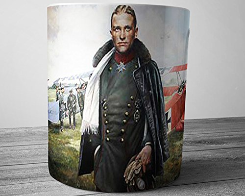 WW1 Red Baron German Fighter Pilot Manfred Freiherr von Richthofen 11 oz Coffee Mug ()