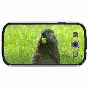 New Style Customized Back Cover Case For Samsung Galaxy S3 Hardshell Case, Black Back Cover Design Groundhog Personalized Unique Case For Samsung S3