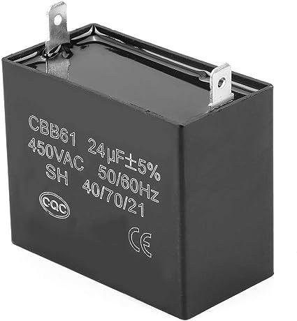 CBB61 24uF 23uF 300 350 400 450V Generator Capacitor for JKD DIANZ DONGRONG RUVA QKPARTS