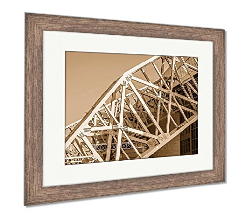 (Ashley Framed Prints April 2017 Arlington Texas ATT Nflcowboys Football Stadium, Wall Art Home Decoration, Sepia, 34x40 (Frame Size), Rustic Barn Wood Frame, AG6401341)
