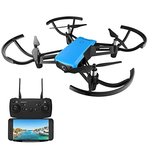 REDPAWZ R020 Quadcopter Drone with Camera FPV RC Quadcopter with HD 720P Wide Angle Camera Altitude Hold Gravity Sensor RTF - Blue ()