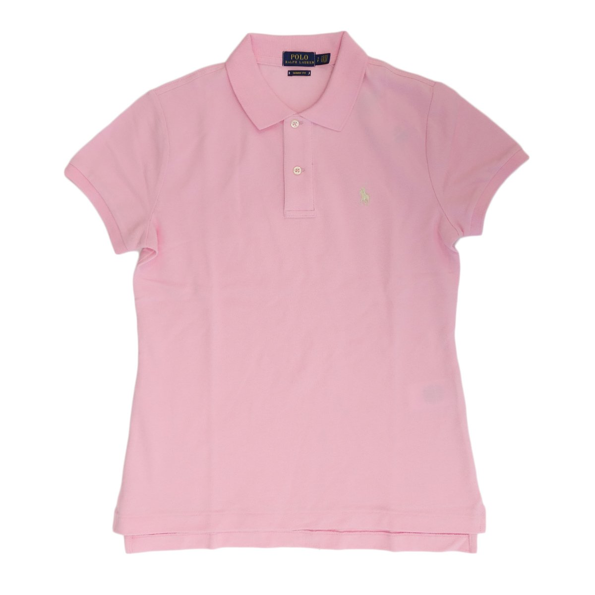 (ポロ ラルフローレン) POLO Ralph Lauren ポロシャツ ポニー ワンポイント レディース [並行輸入品] B07DT547GG XS ピンク×オフホワイト ピンク×オフホワイト XS