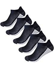 5 Pairs Mens Running Socks for Trainers Half Cushioned Athletic Socks Low Cut Sport Ankle socks Durable and Breathable for Cycling Hiking