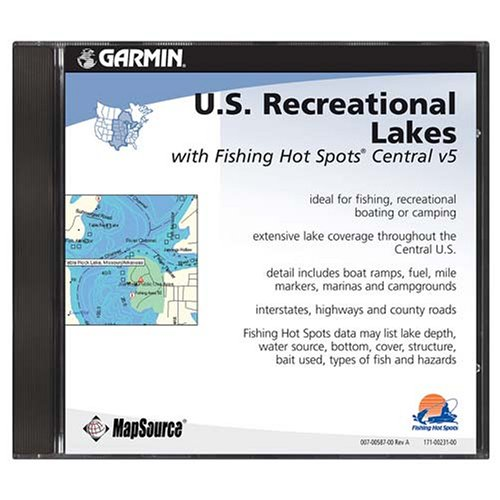 Garmin MapSource U.S. Recreational Lakes Central U.S. Freshwater CD-ROM (Windows) -