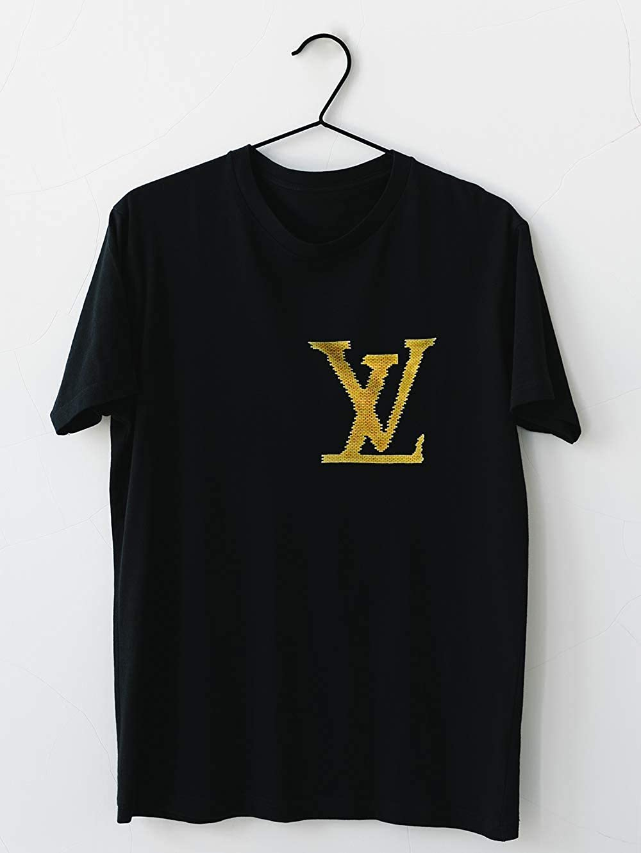 8823cc5bc7a15 TeeSpecial99 Louis-Vuitton-Lv-Brick-Logo-QUOC-te T-Shirt for Men ...