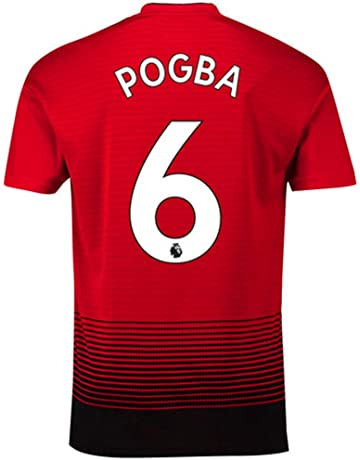 Pogba #6 Manchester United Home Mens 2018/2019 Socce Jersey