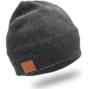Enjoybot Bluetooth Beanie Wireless Knit Hat Cap with Built-in Stereo Speakers and Microphone for Winter Sports and Gifts