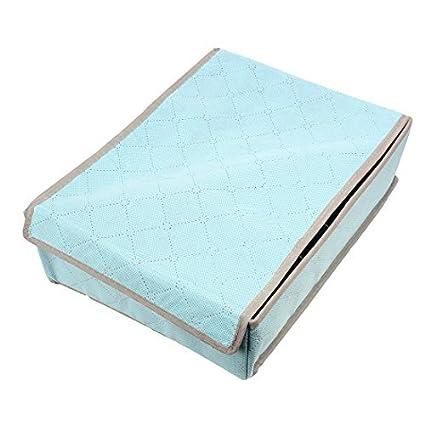 La ropa Interior de carbón de bambú Organizador Caja de almacenamiento 7 compartimentos Azul