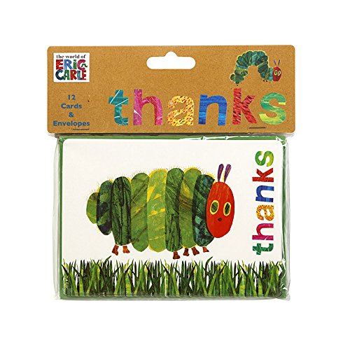 Talking Tables TVHC Hungry Caterpillar Party Thank You Cards Pack of 12 Microfibre Multicolour