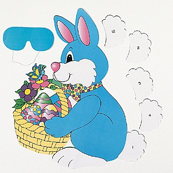 Pin the Tail on the Bunny Easter Party Game