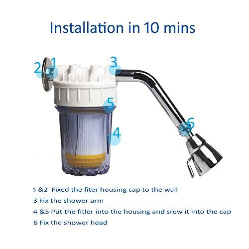 wagen hard water filter shower system ion exchange resin removes chlorine so. Black Bedroom Furniture Sets. Home Design Ideas