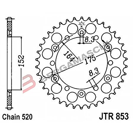 JT Sprockets JTR853.43 43T Steel Rear Sprocket