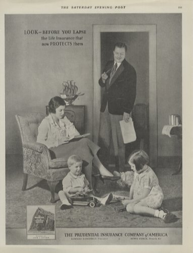 1931-ad-prudential-life-insurance-dad-checking-on-mom-and-the-kids-original-vintage-advertisement