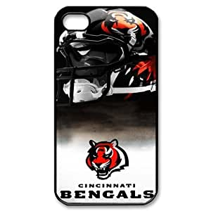 iphone 4/4s Covers Hard Back Protective-Cute NFL Cincinnati Bengals Case Perfect as Christmas gift(2)