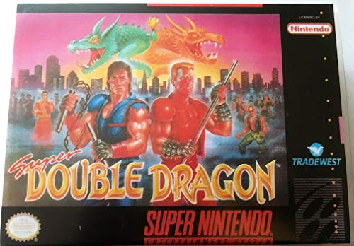Super Double Dragon (Super Nintendo, SNES) - Reproduction Video Game Cartridge with Universal Game Case and Glossy Manual