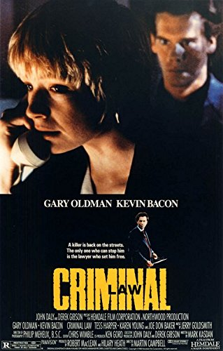 CRIMINAL LAW - 27'X41' Original Movie Poster One Sheet 1989 Rolled Kevin Bacon Gary Oldman