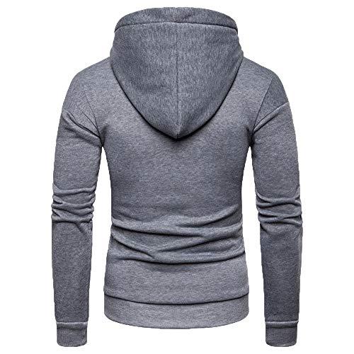 Jerfer Homme Hoodies Pullover Manches Haute Longues Gris Manteau shirt Décontracté Chemisier À Sweat Tracksuit Tops Blouse Sweat Pour Qualité 88Oqfr