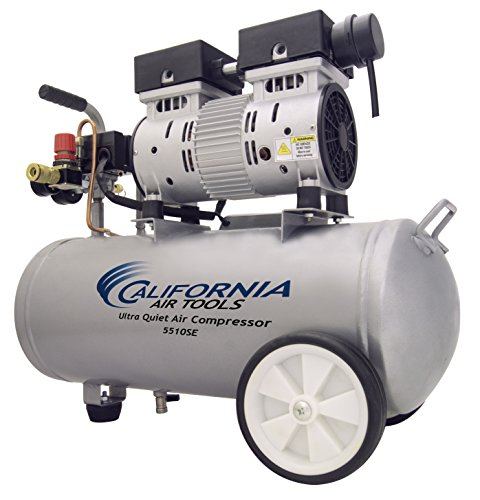 California Air Tools 5510SE Ultra Quiet and Oil-Free 1.0-HP 5.5-Gallon Steel Tank Air Compressor by California Air Tools (Image #4)