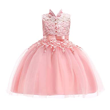 ef227af6e54f Amazon.com  Moonker Girls Princess Wedding Dress 2-7 Years Old